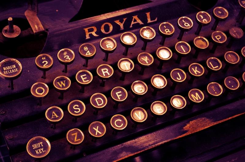 Royal Daktilo Fotoğraf Kanvas Tablo