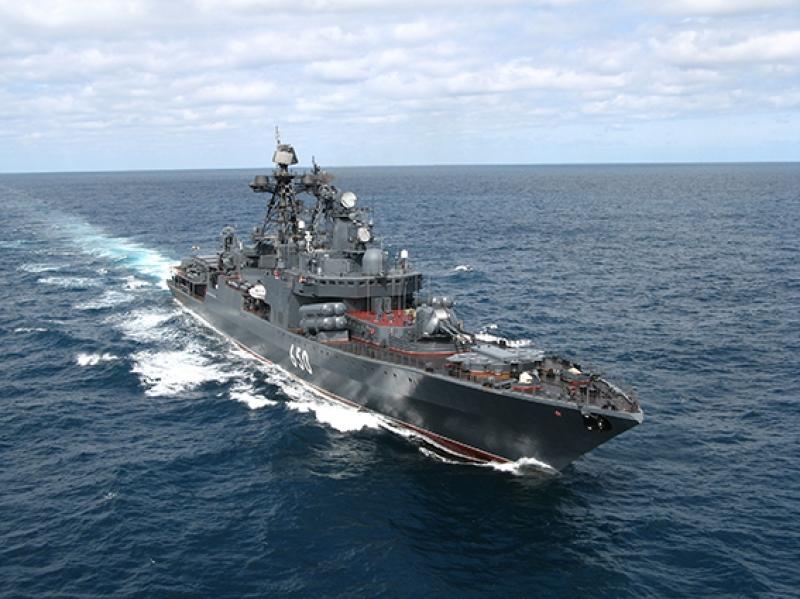 Rus Savaş Gemisi Kanvas Tablo