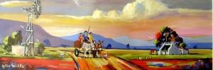 Rüzgar Gülü Manzara Sanat Kanvas Tablo