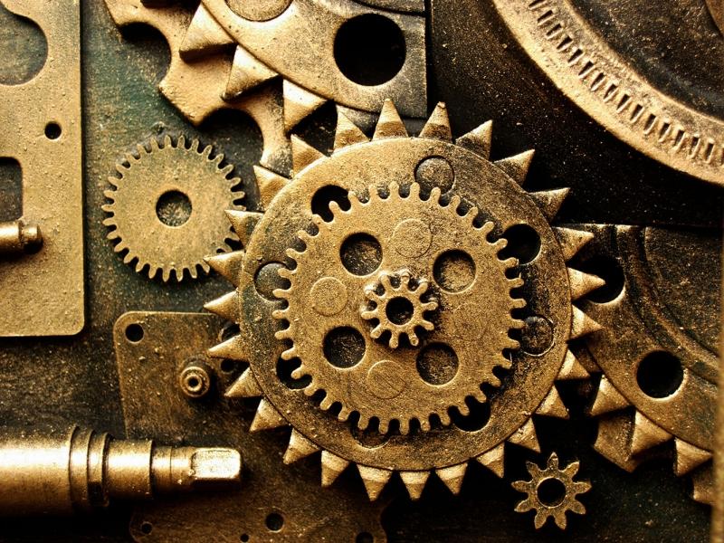 Saat Çarkları 2 Zaman Fotoğraf Kanvas Tablo