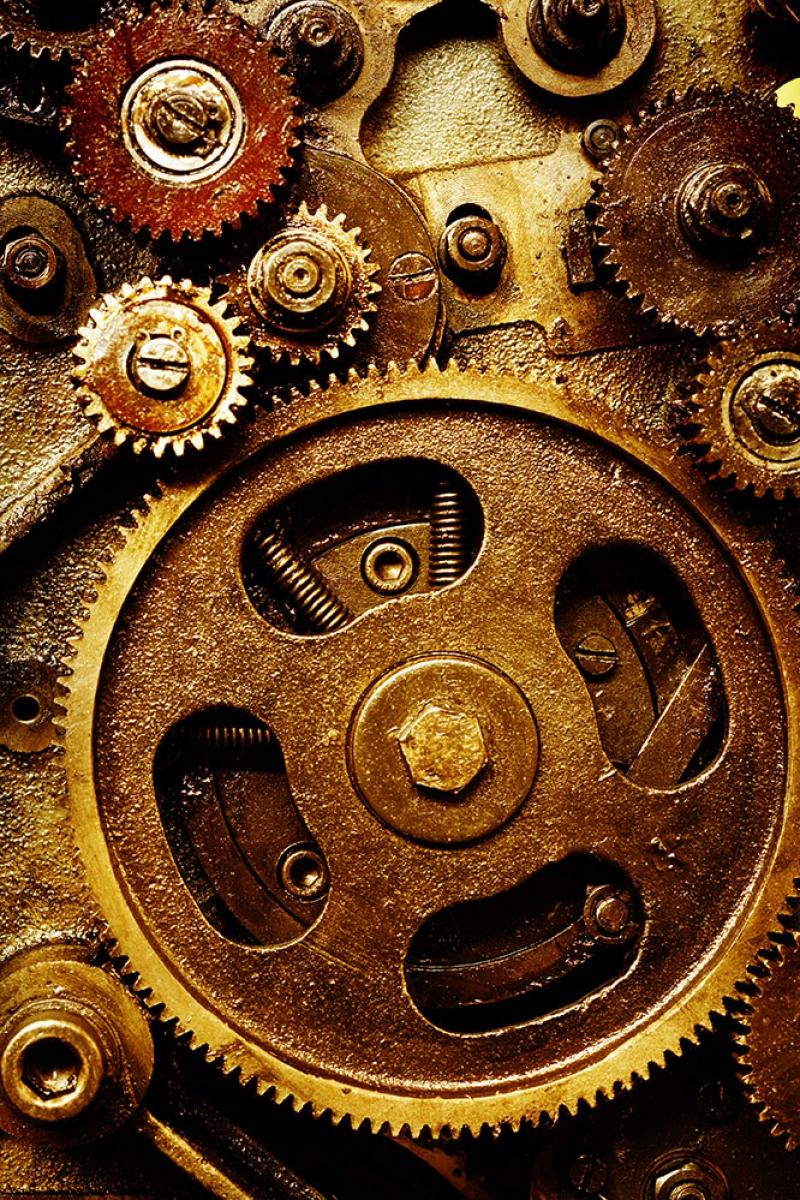 Saat Çarkları 4 Zaman Fotoğraf Kanvas Tablo