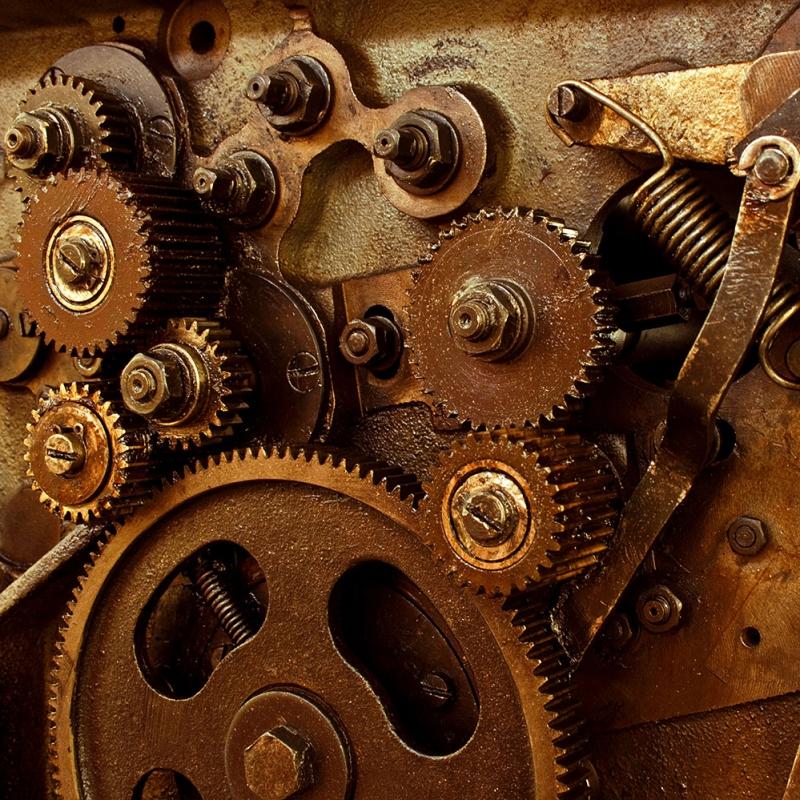 Saat Çarkları 6 Zaman Fotoğraf Kanvas Tablo