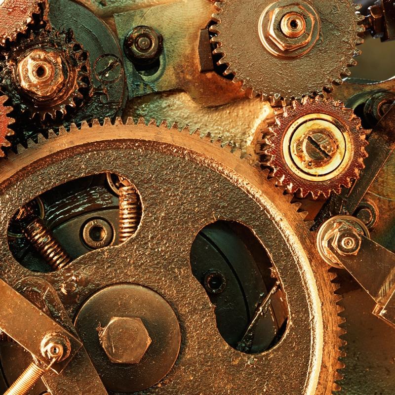 Saat Çarkları 7 Zaman Fotoğraf Kanvas Tablo