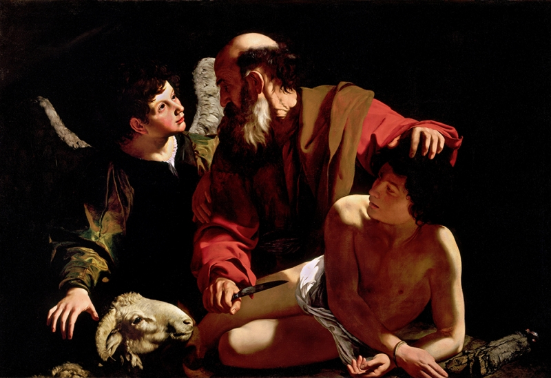 Sacrifice Of Isaac Caravaggio Sanat Kanvas Tablo