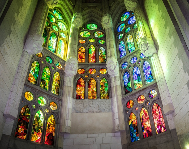 Sagrada Familia Cathedral 3 Gaudi Barcelona Dini & İnanç Kanvas Tablo