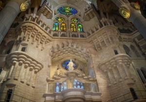 Sagrada Familia Cathedral 4 Gaudi Barcelona Dini & İnanç Kanvas Tablo