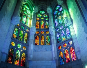 Sagrada Familia Cathedral Gaudi Barcelona Dini & İnanç Kanvas Tablo