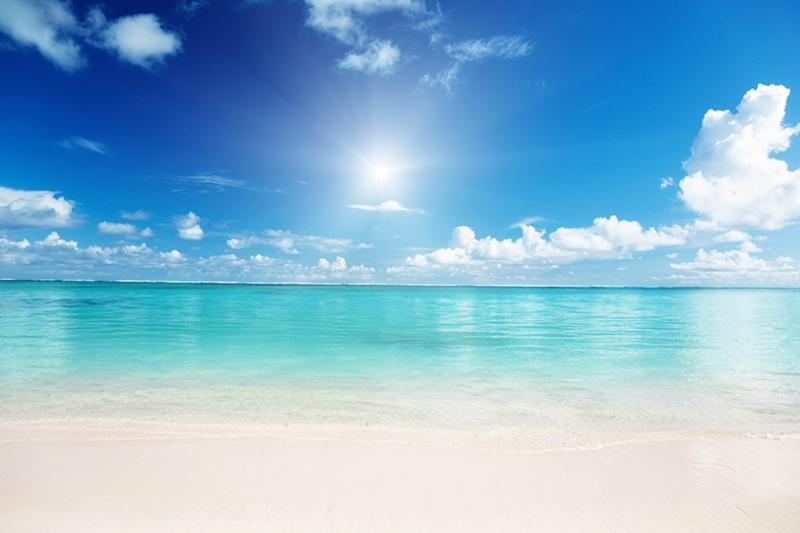 Sahil Kıyısı ve Güneş Manzarası Kanvas Tablo