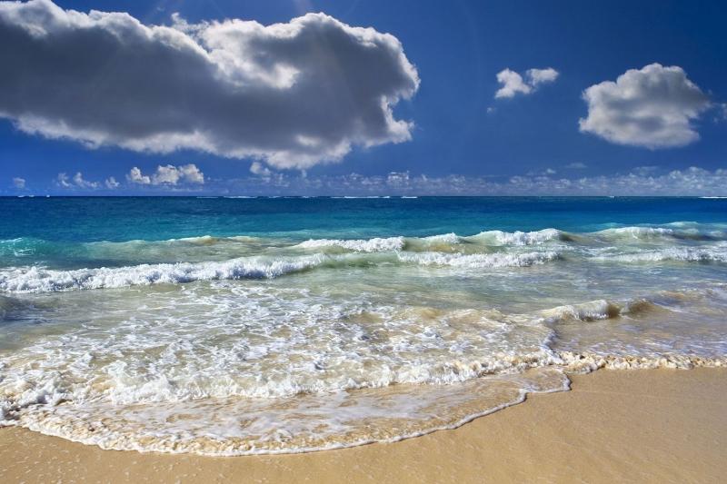 Sahil Kumsal Mavi Deniz 2 Doğa Manzaraları Kanvas Tablo