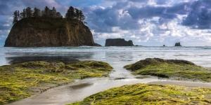 Sahil Kumsal Mavi Deniz Ada Doğa Manzaraları Kanvas Tablo