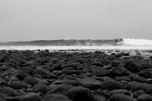 Sahil Siyah Beyaz Fotoğraf Kanvas Tablo