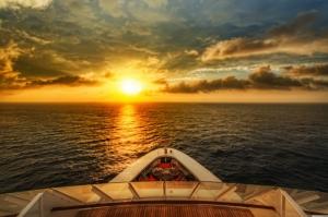 Sahilde Gün Batımı Doğa Manzaraları Kanvas Tablo