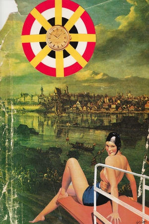 Sahte Yaz 1960 Retro Vintage Kanvas Tablo