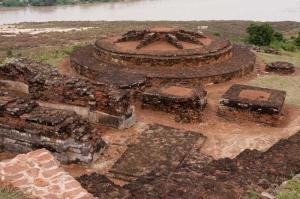 Salihundam Hindistan, Tarihi Budist Tapınakları Dini İnanç Kanvas Tablo