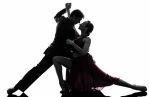 Salsa Çifti Dans Yağlı Boya Sanat Kanvas Tablo