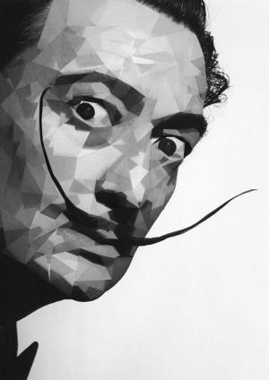 Salvador Dali Siyah Beyaz Ünlü Yüzler Kanvas Tablo