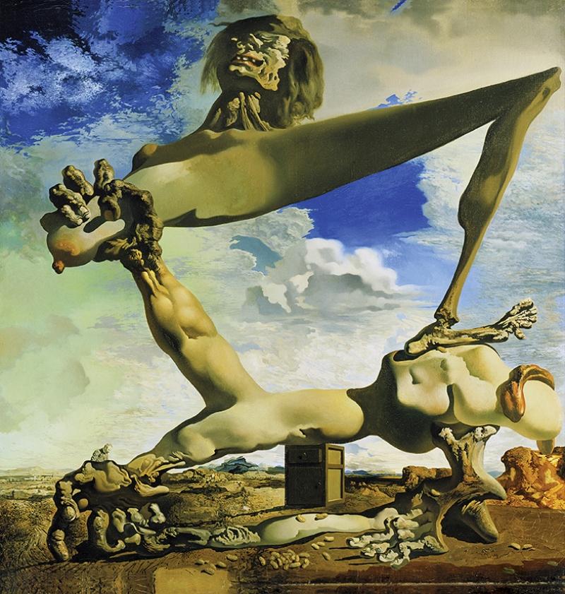 Salvador Dali Surrealizm Kompozisyon Yağlı Boya Sanat Kanvas Tablo
