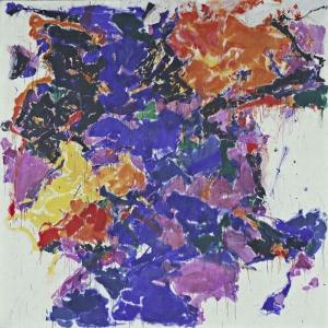 Sam Francis Yok Olus Yagli Boya Klasik Sanat Kanvas Tablo