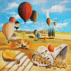Samanta Casagli Sıcak Hava Balonu Sürrealizm Klasik Sanat Eserleri Kanvas Tablo