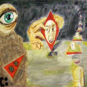 Samantha Donaldson Sürrealizm Soyut Abstract Sanat Kanvas Tablo