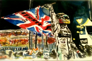 Şampiyon Rallici Modern Sanat Kanvas Tablo