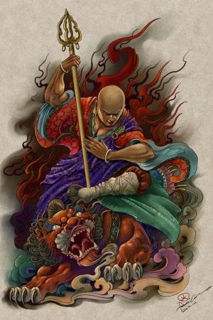 Samuray Savaşçı Maskesi-76 Japonya Modern Sanat Kanvas Tablo
