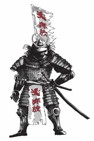 Samuray Savaşçı Maskesi-88 Japonya Modern Sanat Kanvas Tablo