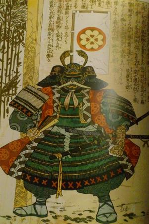 Samuray Savaşçı Maskesi-99 Japonya Modern Sanat Kanvas Tablo