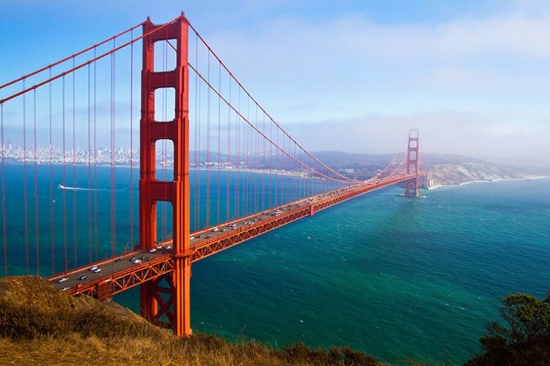 San Francisco California Köprüsü Dünyaca Ünlü Şehirler Kanvas Tablo