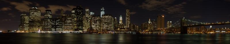 San Francisco Gece Manzarası Panaromik Kanvas Tablo