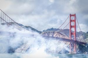 San Francisco Golden Gate Köprüsü Şehir Manzarası Dünyaca Ünlü Şehirler Kanvas Tablo