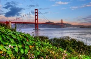 San Francisco Köprüsü Dünyaca Ünlü Şehirler Kanvas Tablo