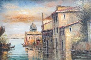 San Marco Venedik İtalya Dekoratif Deniz, Şehir Manzaraları 6