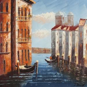 San Marco Venedik İtalya Deniz Şehir Manzaraları 3 Kanvas Tablo