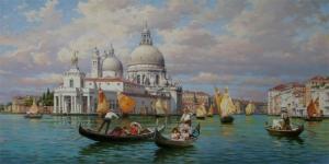 San Marco Venedik İtalya Deniz Şehir Manzaraları 7 Sanat Kanvas Tablo
