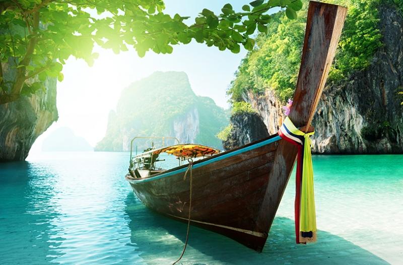 Sandal, Doğa ve Nehir Egzotik Kanvas Tablo