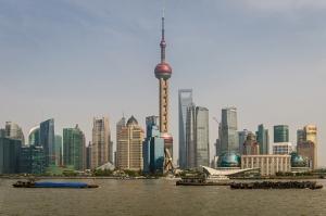 Şangay Dünyaca Ünlü Şehirler Kanvas Tablo