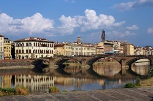 Santa Trinita Floransa İtalya Şehir Manzaraları Dünyaca Ünlü Şehirler Kanvas Tablo