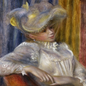 Şapkali Bayan, Pierre August Renoir, Woman With A Hat Klasik Sanat Kanvas Tablo
