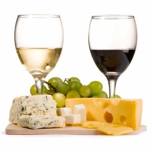 Şarap Üzüm ve Peynir 2 Lezzetler Kanvas Tablo