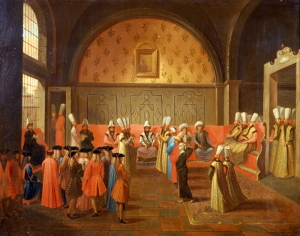 Saray Adabı Osmanlı Tarihi Kanvas Tablo