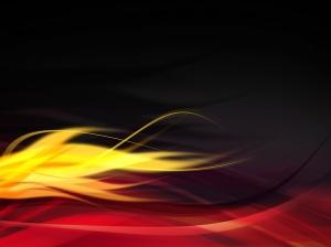 Sarı Kırmızı Abstract Dijital ve Fantastik Kanvas Tablo