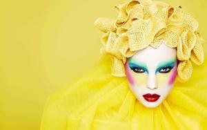 Sarı Kız Makyaj Yağlı Boya Sanat Kanvas Tablo