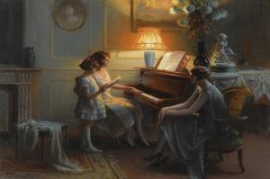 Şarkı Söyleme Dersi, Delphin Enjolras Klasik Sanat Kanvas Tablo