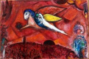 Şarkıların Şarkısı, Marc Chagall Song Of Songs, Klasik Sanat Kanvas Tablo