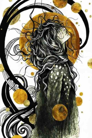 Sarmaşık Kadın Soyut Abstract Sanat Kanvas Tablo