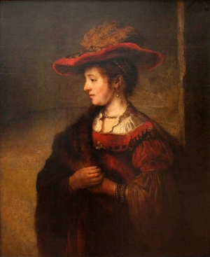 Saskia İle Otoportre Rembrandt Yağlı Boya Sanat Kanvas Tablo