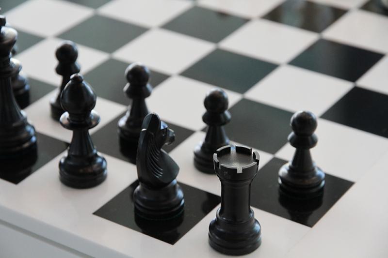 Satranç Siyah Beyaz Fotoğraf Kanvas Tablo