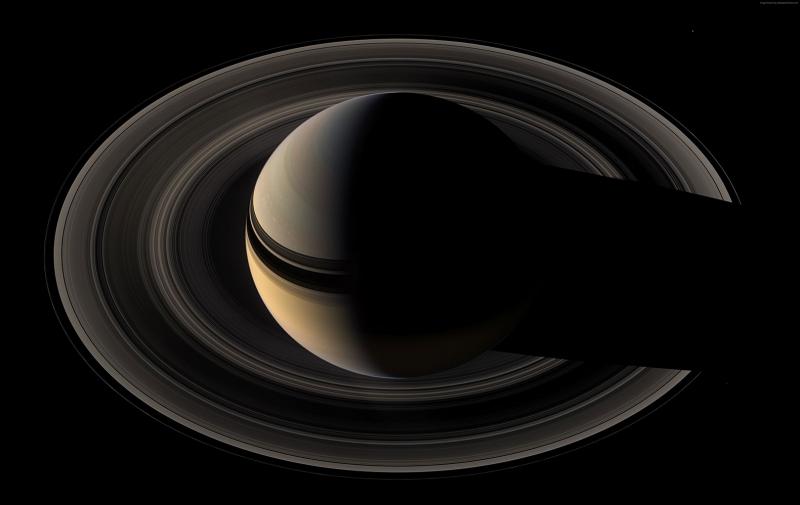 Saturn Uzay Yıldızlar Dünya & Uzay Kanvas Tablo