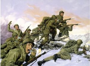 Savaş Çizim İllustrasyon Askeri Kanvas Tablo